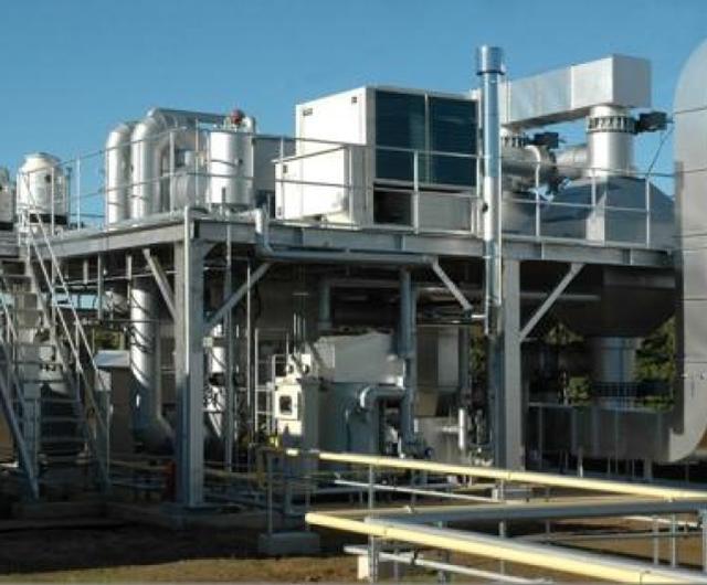 活性炭吸附脱附塔+催化燃烧工程
